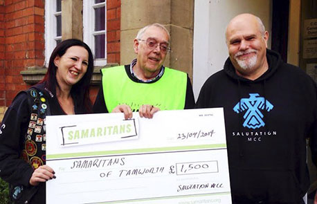 Salutation cheque to Samaritans